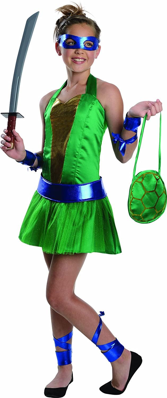 Teenage Mutant Ninja Turtles Sassy Tween Girl's Leonardo Costume, Medium