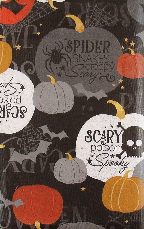 Scary Poison Spooky Halloween Vinyl Flannel Back Tablecloth (52