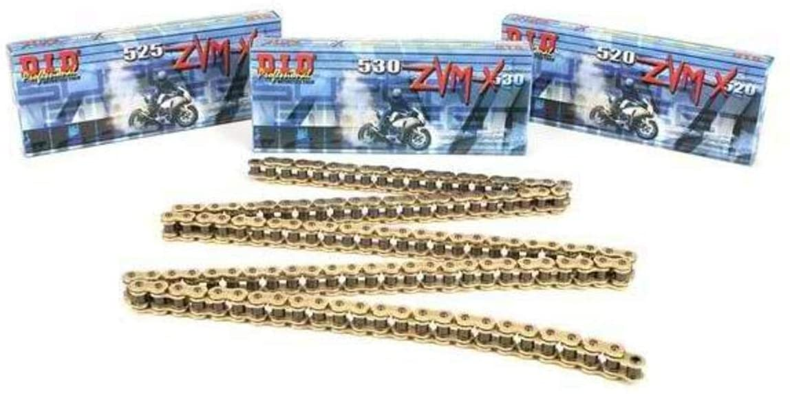 D.I.D 520 ZVMX Series Chain - 120 Links - Gold , Chain Type: 520, Chain Length: 120, Color: Gold, Chain Application: Offroad 520ZVMX-120 GOLD