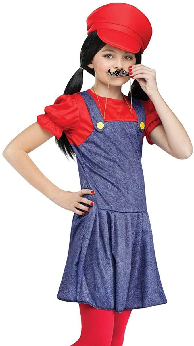 Fun World Kids Video Game Plumber Brothers Green Girls Halloween Costume