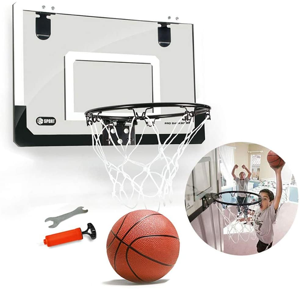 Zxq Transparent Hanging Door Basketball Board Free Punching Can Be Attached to The Wall Mini Backboard Youth Office Decompression Relaxation Toys