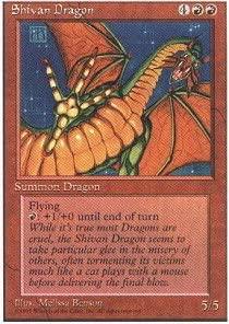 Magic The Gathering - Shivan Dragon - Alternate 4th Edition