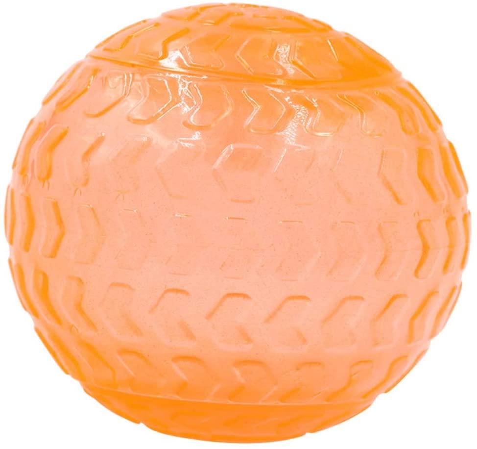 Jian E Pet Toys - Sounding Big Arrow Ball Dog Toy TPR Material Biting Orange