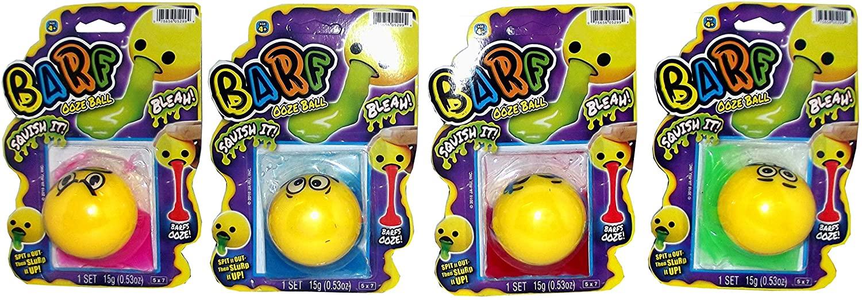 Ja-Ru Inc Barf Ooze Ball Emoji Novelty Toy, Assorted, 1 Count