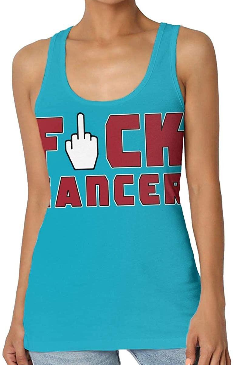 Yongchuang Feng Fuck Cancer Womens Tank Top T-Shirt 3D Printed Sleeveless Vest