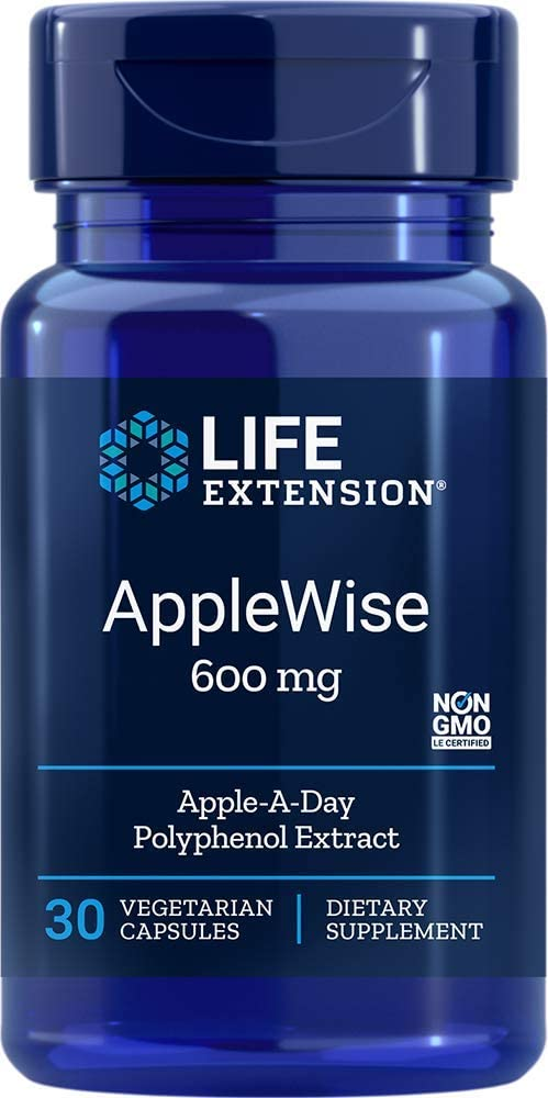 AppleWise Polyphenol Extract 600mg 30 Count (Pack of 2)