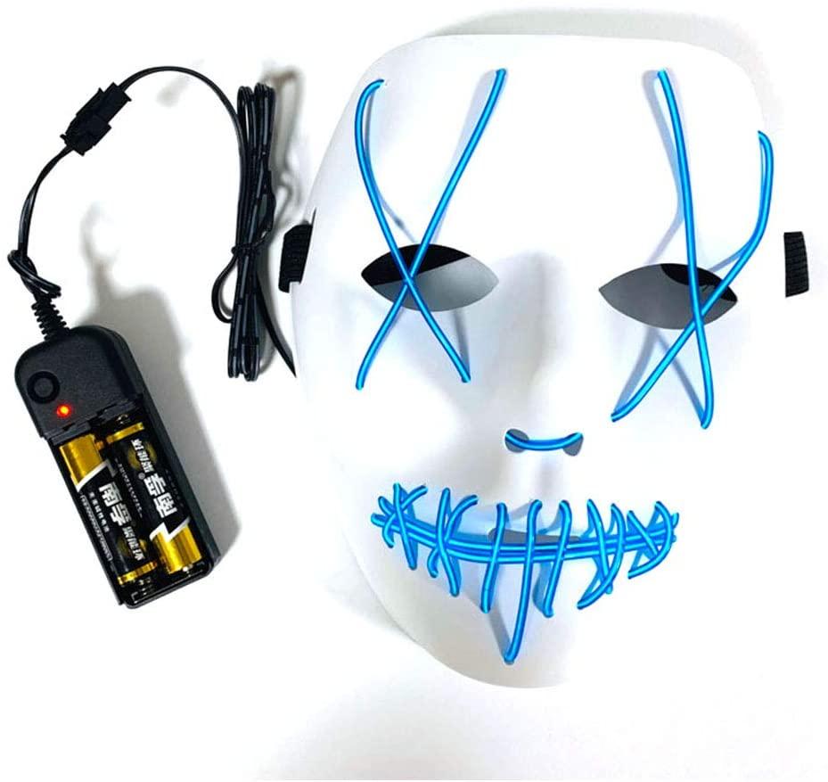 SENIAO Halloween Mask LED Light Up Mask Scary EL Wire Cosplay Costume Mask (006)