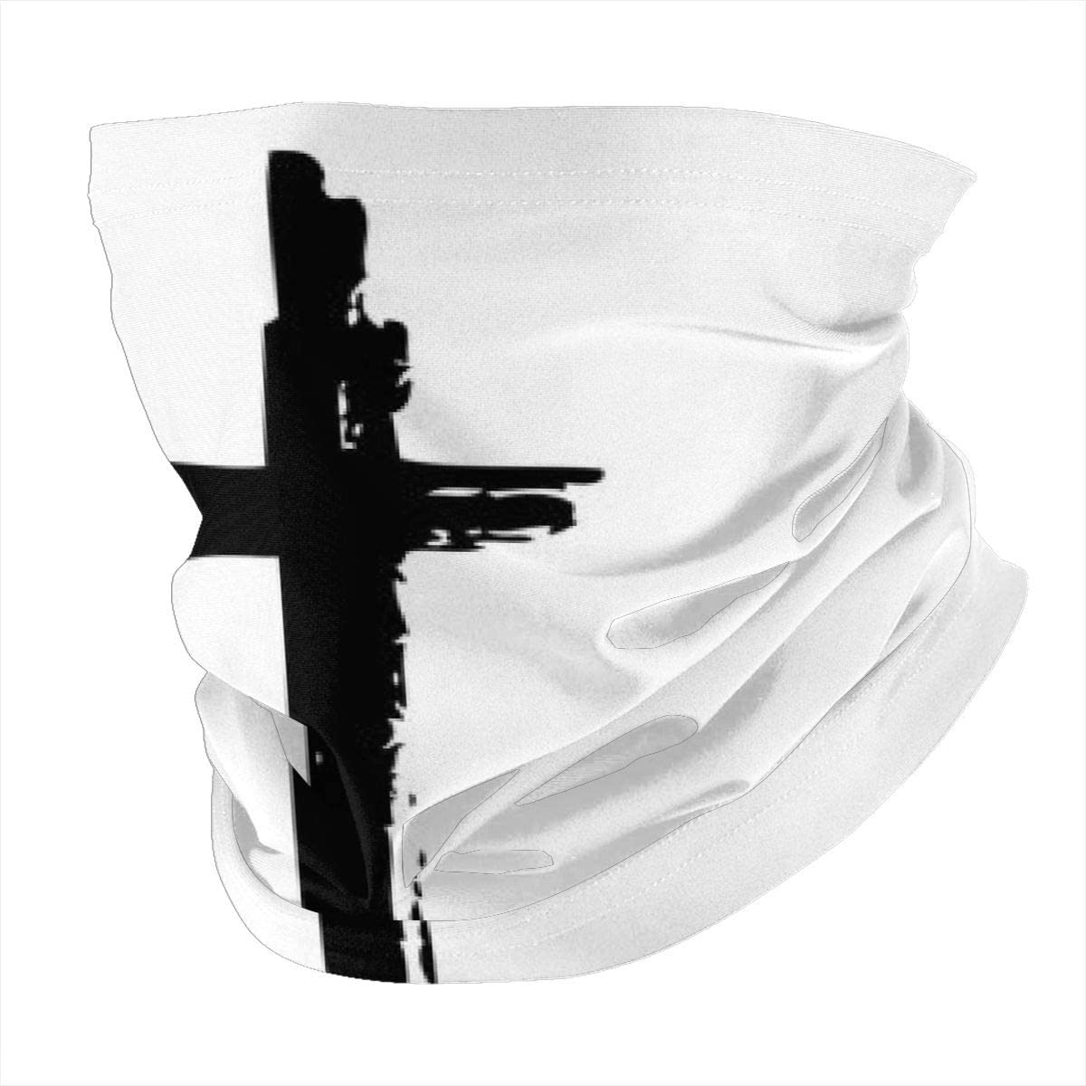 Fashion Bandana Women Men Neck Gaiter Face Mouth Washable Protection For Running Sports Hand Drawn Cross(14)