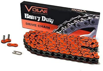 Volar Heavy Duty Non Oring ATV Chain - Orange for 520 x 78 Links