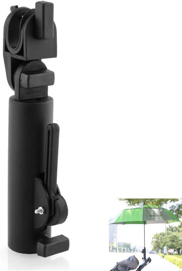 HOW TRUE Golf Umbrella Holder Golf Cart Umbrella Holder, Adjustable, Black