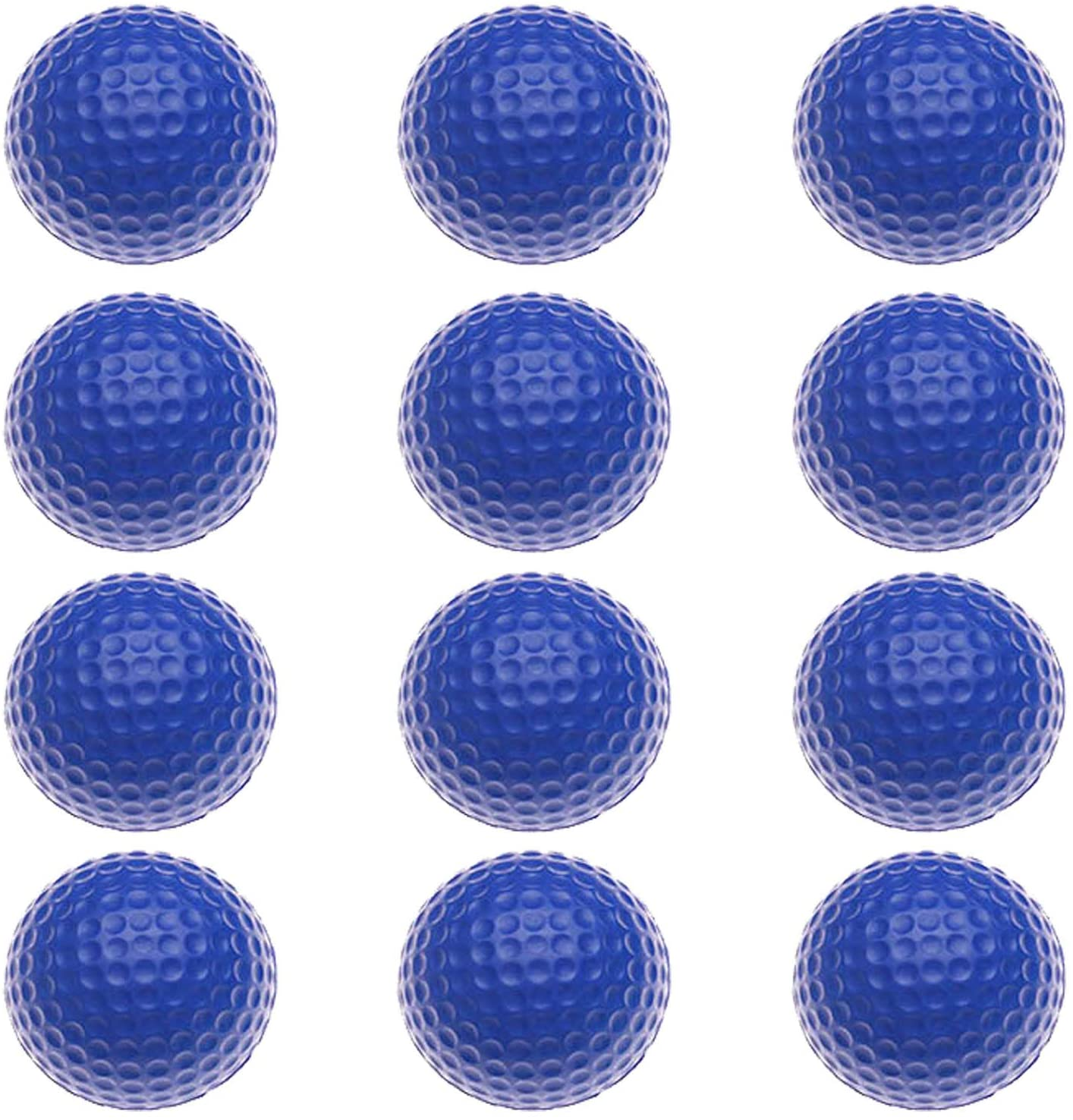 FingerTen Golf Balls Practice Foam Value 12Pcs/24Pcs, Soft Elastic Restricted Flight Indoors and Outdoors Training Aid Ball