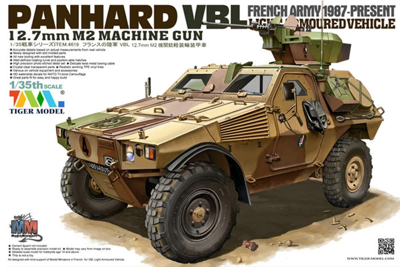 Tiger Model TG 4619Model Kit VBL 12.7mm M2Machine Gun Light Armoured