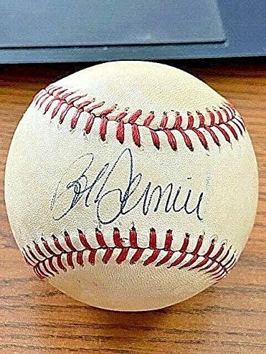 Bob Dernier Signed Ball - 3 ONL ! Cubs! ! - JSA Certified - Autographed Baseballs