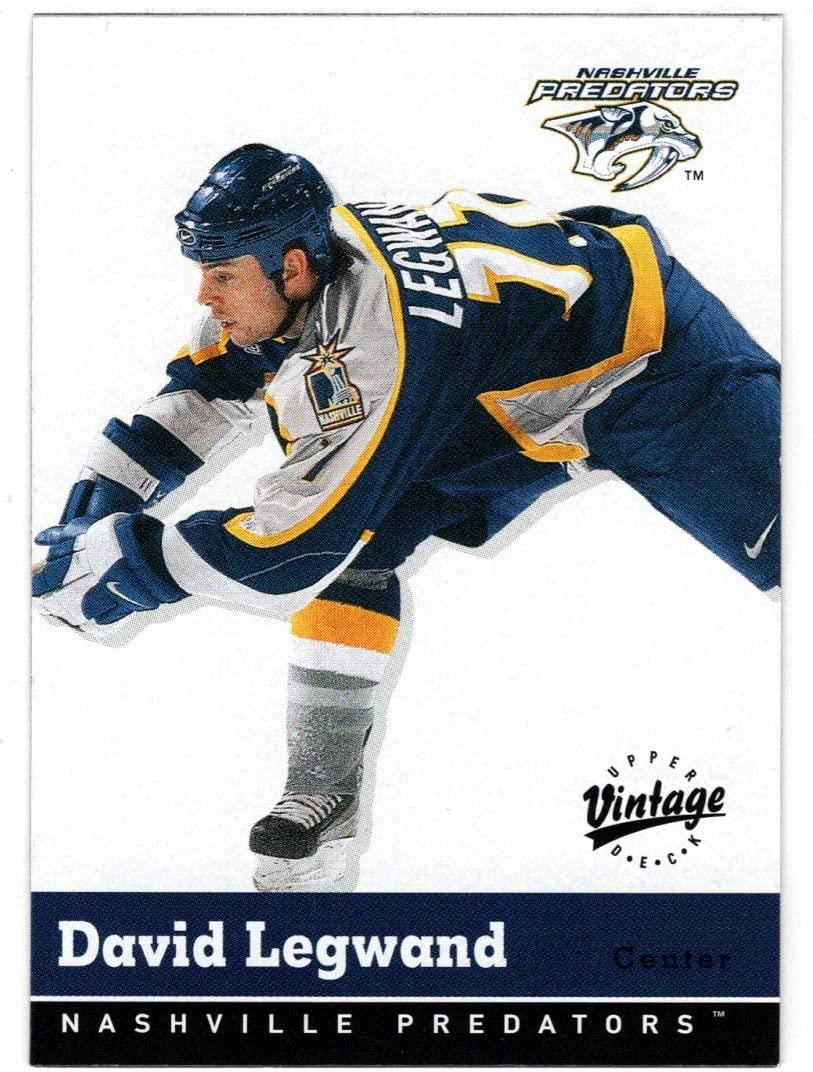 David Legwand - Nashville Predators (Hockey Card) 2000-01 Upper Deck Vintage # 202 Mint