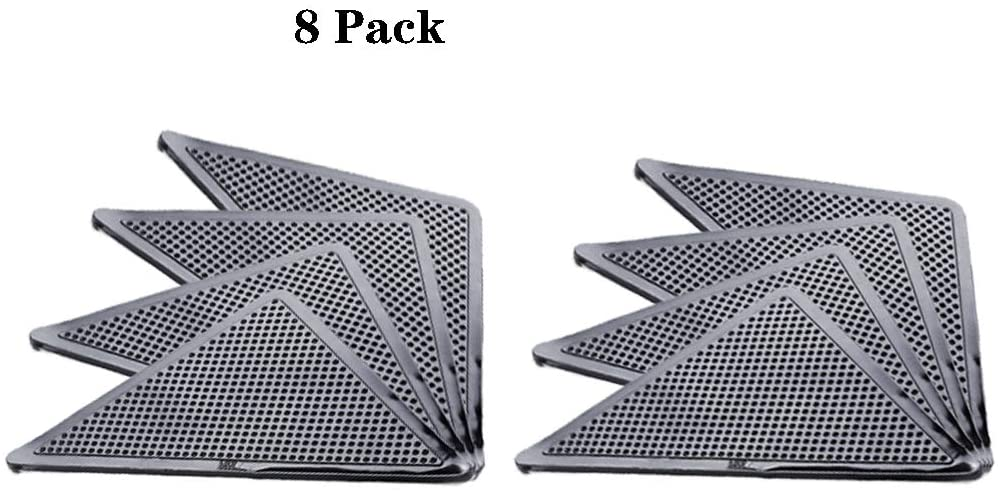 Rug Gripper, Tile Hardwood Floors Anti Slip Rug Grippers, Rugs Double Sided Anti Curling, Non-Slip, Washable and Reusable Pads 8pcs