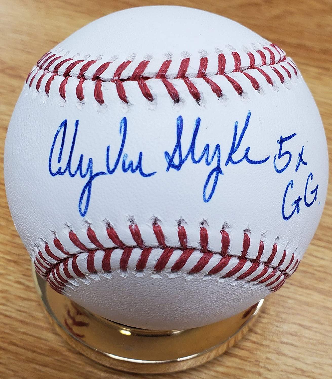 Autographed Andy Van Slyke