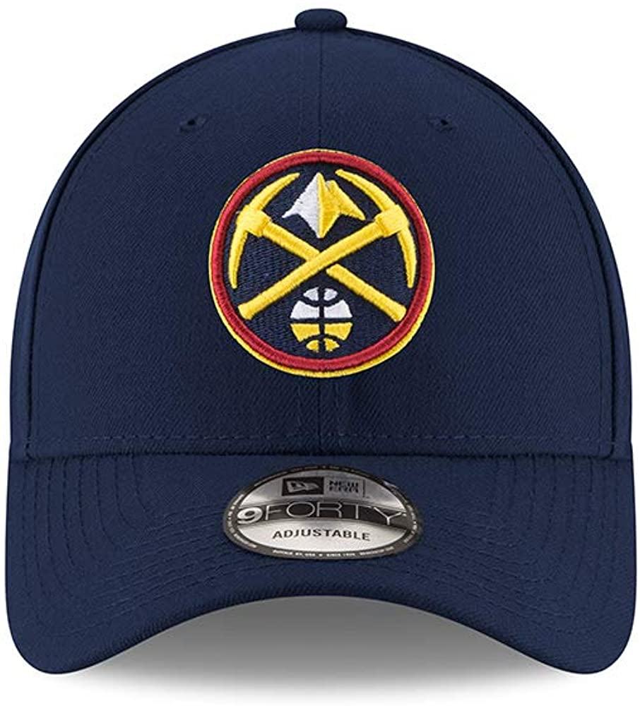 New Era Denver Nuggets The League 9FORTY Adjustable Hat Navy