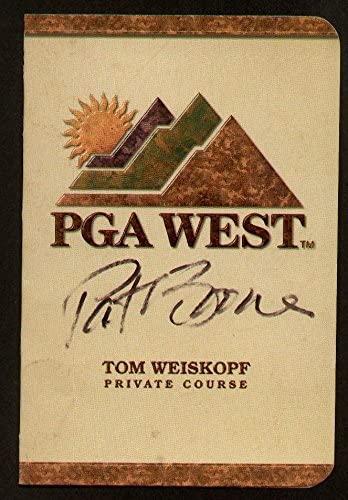 Pat Boone signed autograph auto PGA West Scorecard