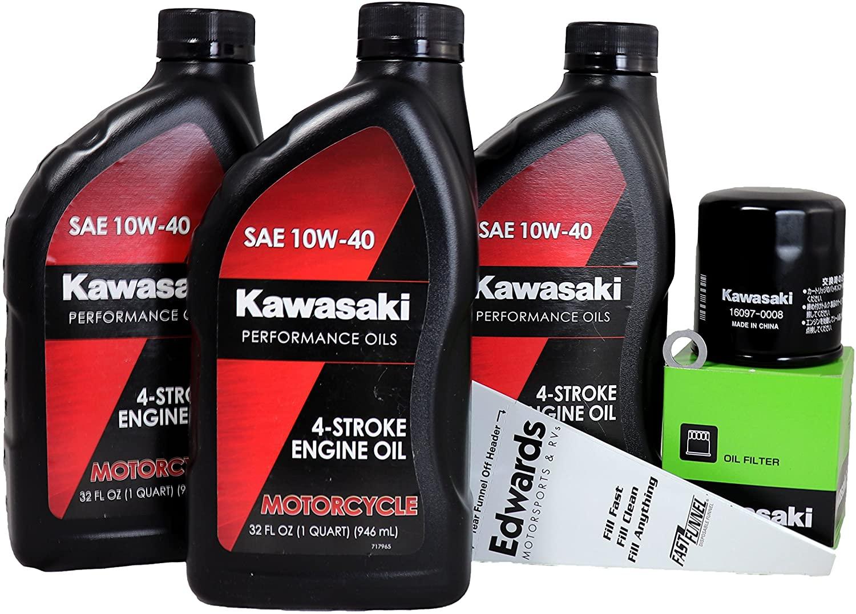 2009 Kawasaki ER-6N Oil Change Kit