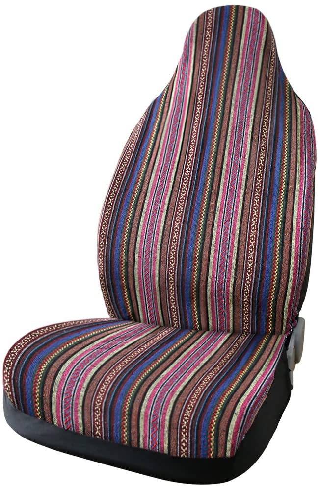 uxcell Universal Multicolor Vivid Bucket Seat Cover for Auto Car