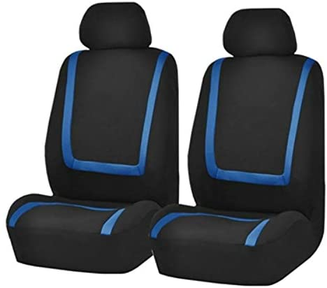 HAIJUN Car Universal Fit Seat Covers UUniversal Car Seat Cover Polyester Fabric Automobile Seat Covers Car Seat Cover Vehicle Seat Protector Interior Accessories 4pcs Set Blue