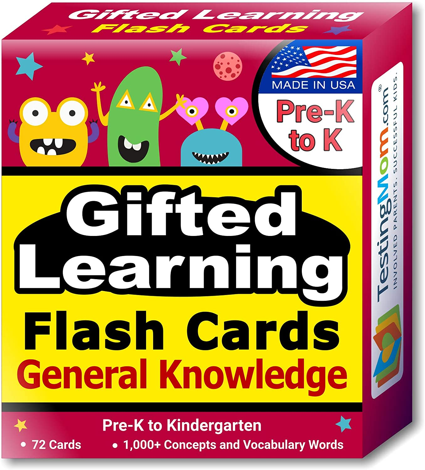 TestingMom.com Gifted Learning Flash Cards – General Knowledge for Pre-K – Kindergarten – G&T Educational Practice: CogAT Test, Iowa Test, OLSAT, NYC Gifted and Talented, WPPSI, AABL