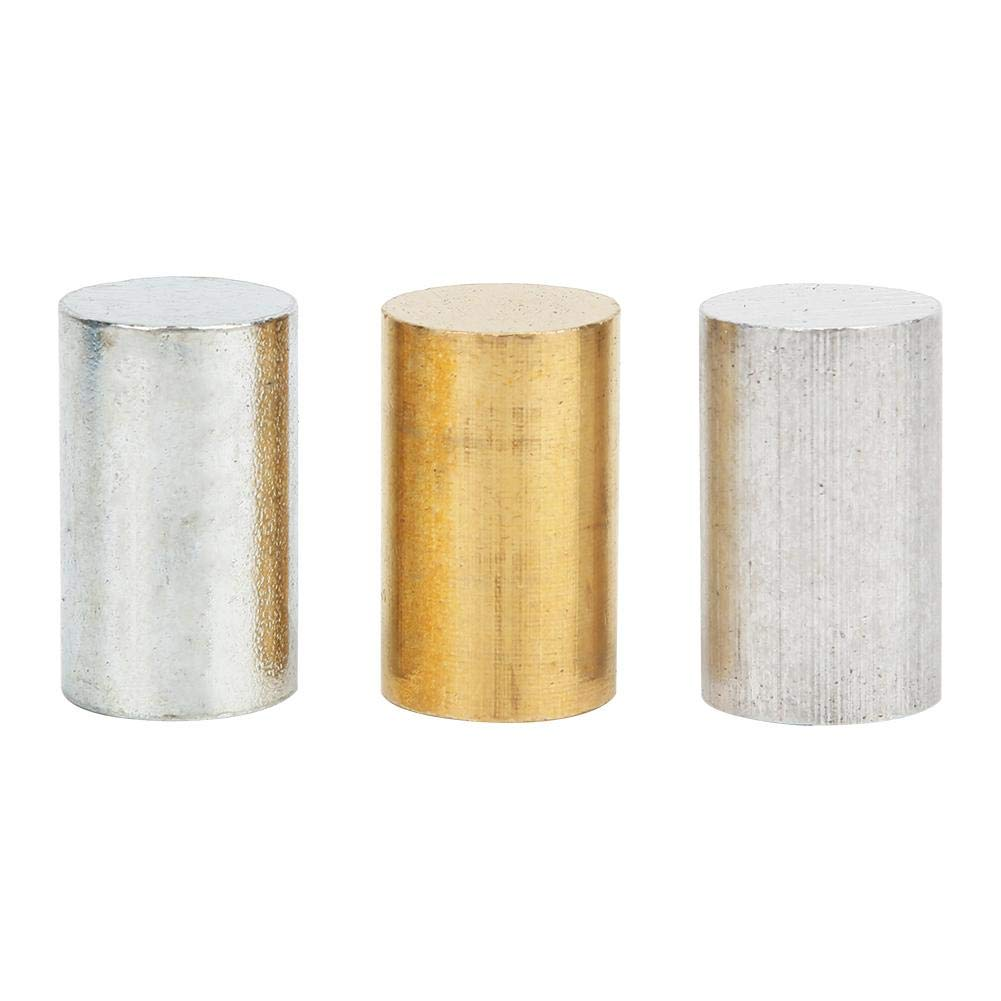 3-Piece Equal Length Cylinders, Brass, Iron, Aluminum for use with Density, Specific Gravity Activities
