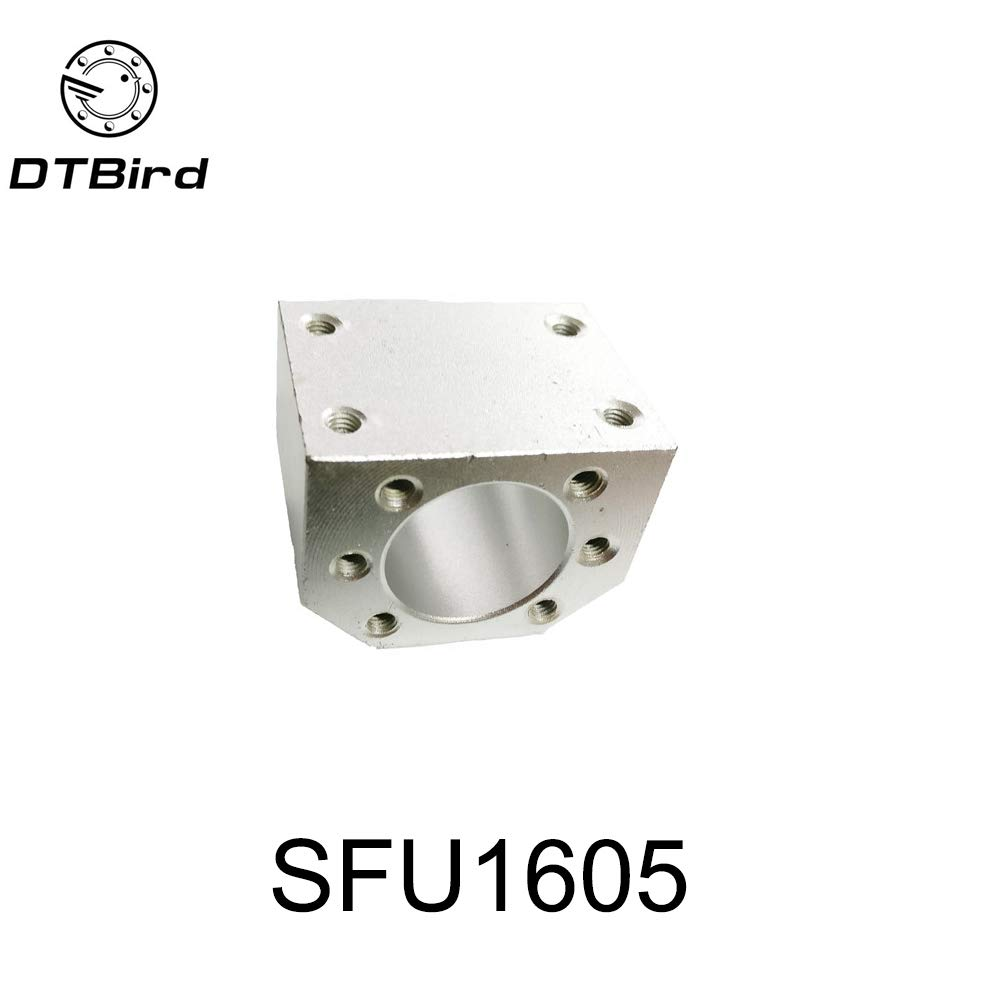 Ochoos 1pcs RM1605 nut housing Bracket Holder Aluminium Alloy Material for 16mmball Screw SFU1605 SFU1604 SFU1610