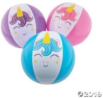 Fun Express Unicorn Beach Balls - Toys - 12 Pieces