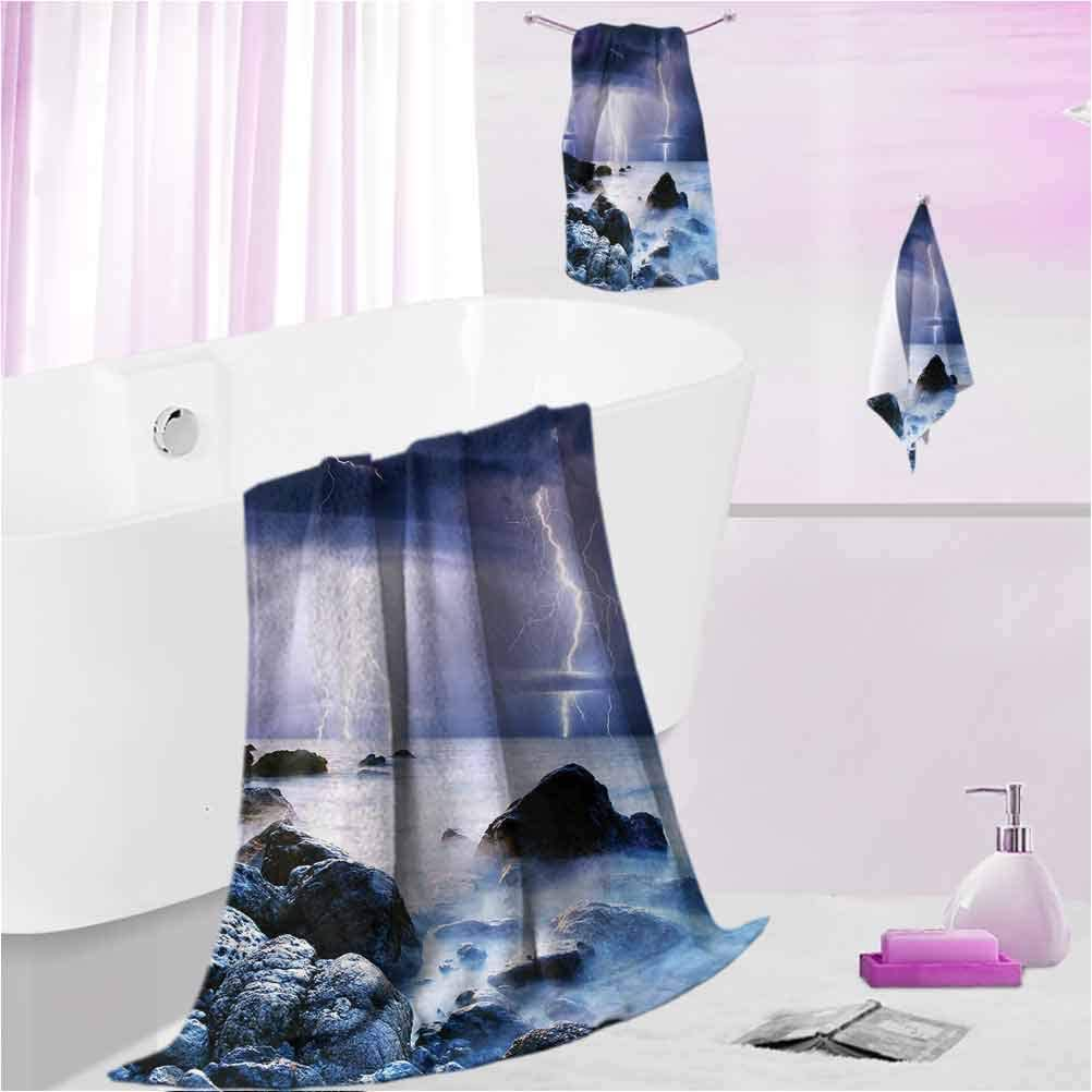 DayDayFun Towel Sets Nature Highly Absorbent Quick-Dry Towels Stormy Weather in Summer L - Contain 1 Bath Towel 1 Hand Towel 1 Washcloth