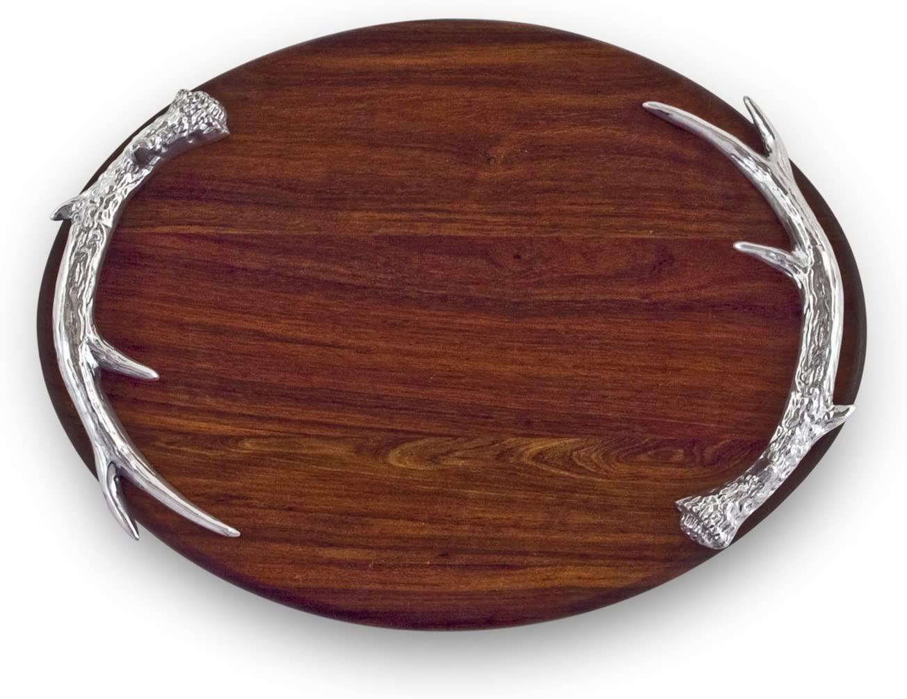 Beatriz Ball Large Western Antler Oval Cutting Board, Metallic