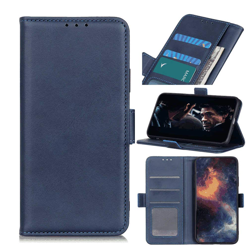 Leather Cover Compatible with Samsung Galaxy Note 10 Plus, Blue Wallet Case for Samsung Galaxy Note 10 Plus