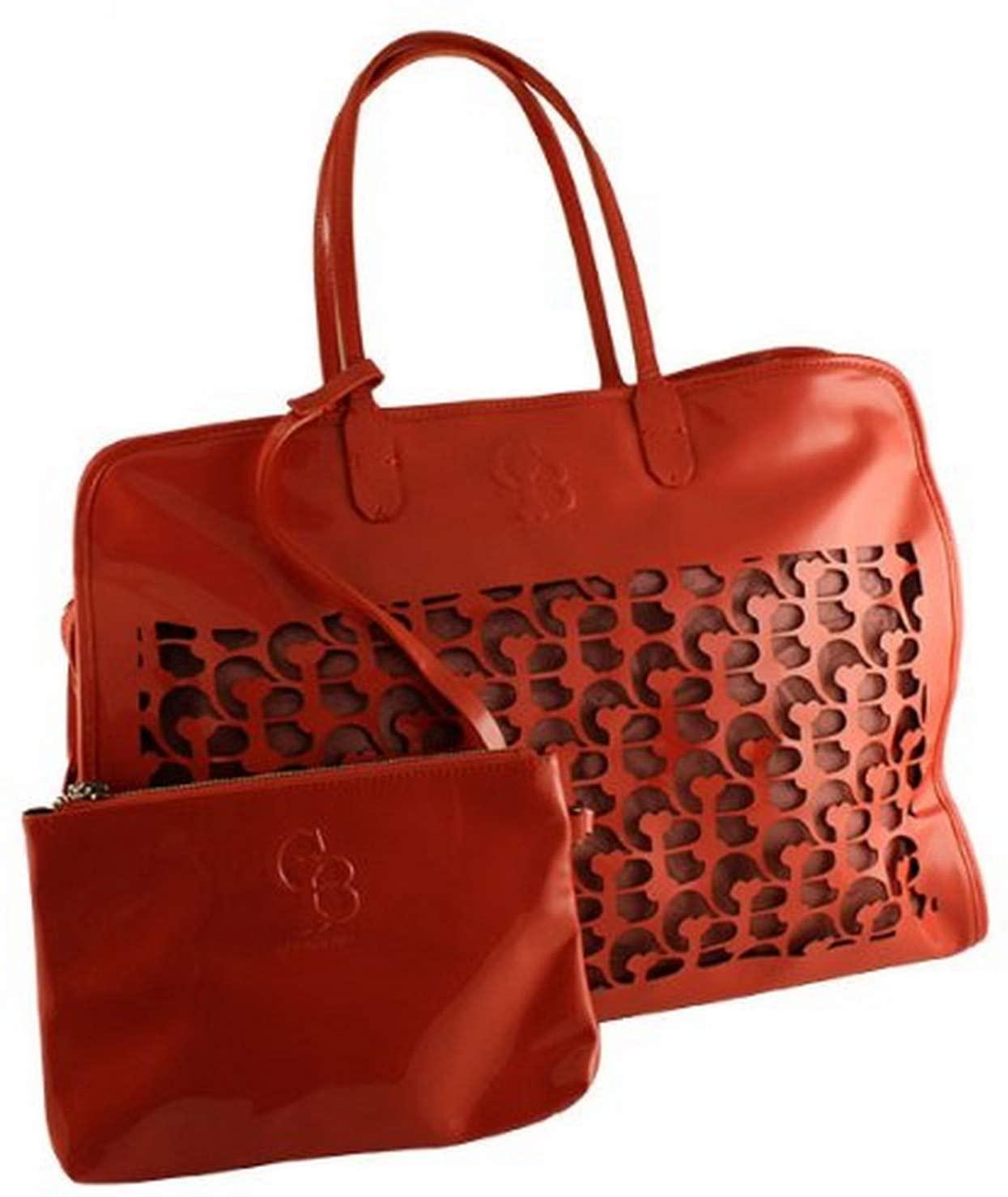 Chrome Bones Noir Handbag/Dog Carrier, Coral