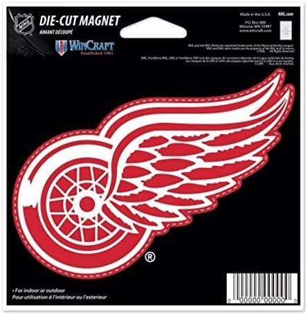 NHL Detroit Red Wings Color 4.5 x 6 Die Cut Magnet