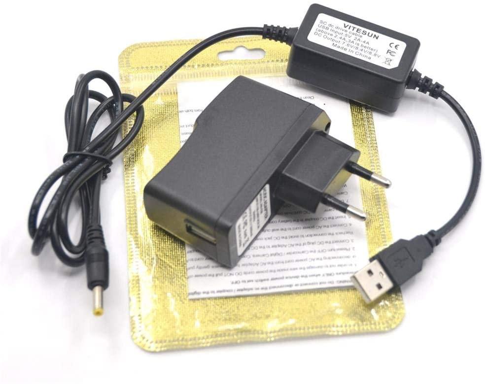 Xennos SLR SC usb cable+charger for Nikon DMW-BLF19 EN-EL14e EN-EL15 dummy battery dmw-dcc12 Fully Decoded EP-5A EP-5B coupler - (Plug Type: AU)