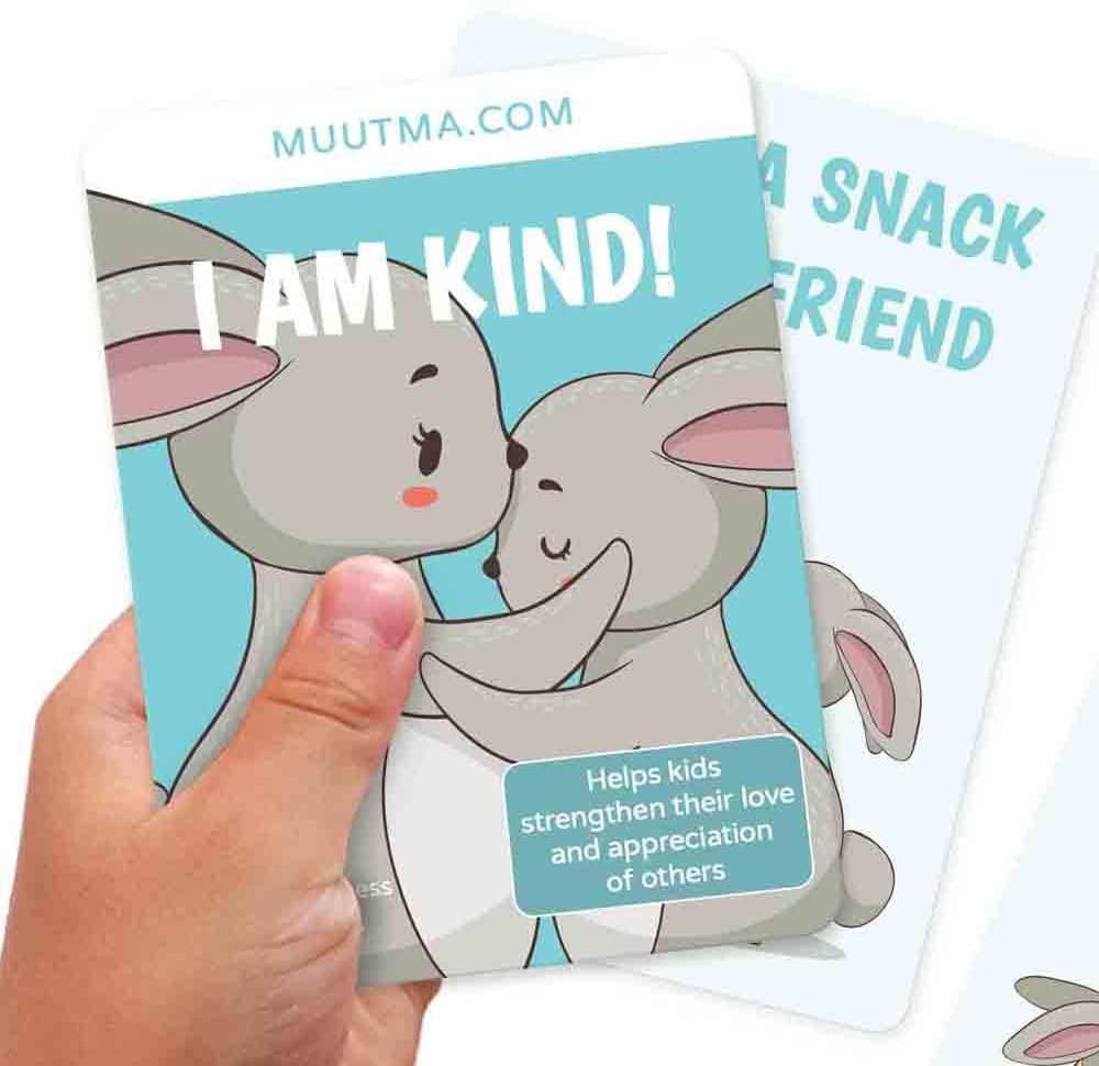 Muutma Acts of Kindness Flashcards for Kids - Nourish Social Emotional Intelligence - I am Kind 35 Cards