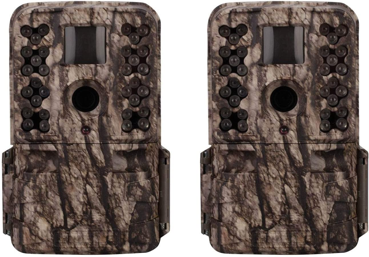 Moultrie M-50 20MP Low Glow Long Range IR Game Trail Camera, White Bark (2 Pack)