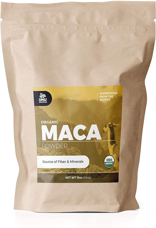 OMG! Superfoods Organic Maca Powder - 100% Pure, USDA Certified Organic Maca Root Powder (16oz)