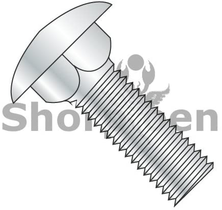 10-32X1 Carriage Bolt Fully Threaded Zinc - Box Quantity 2000 by Shorpioen BC-1116C