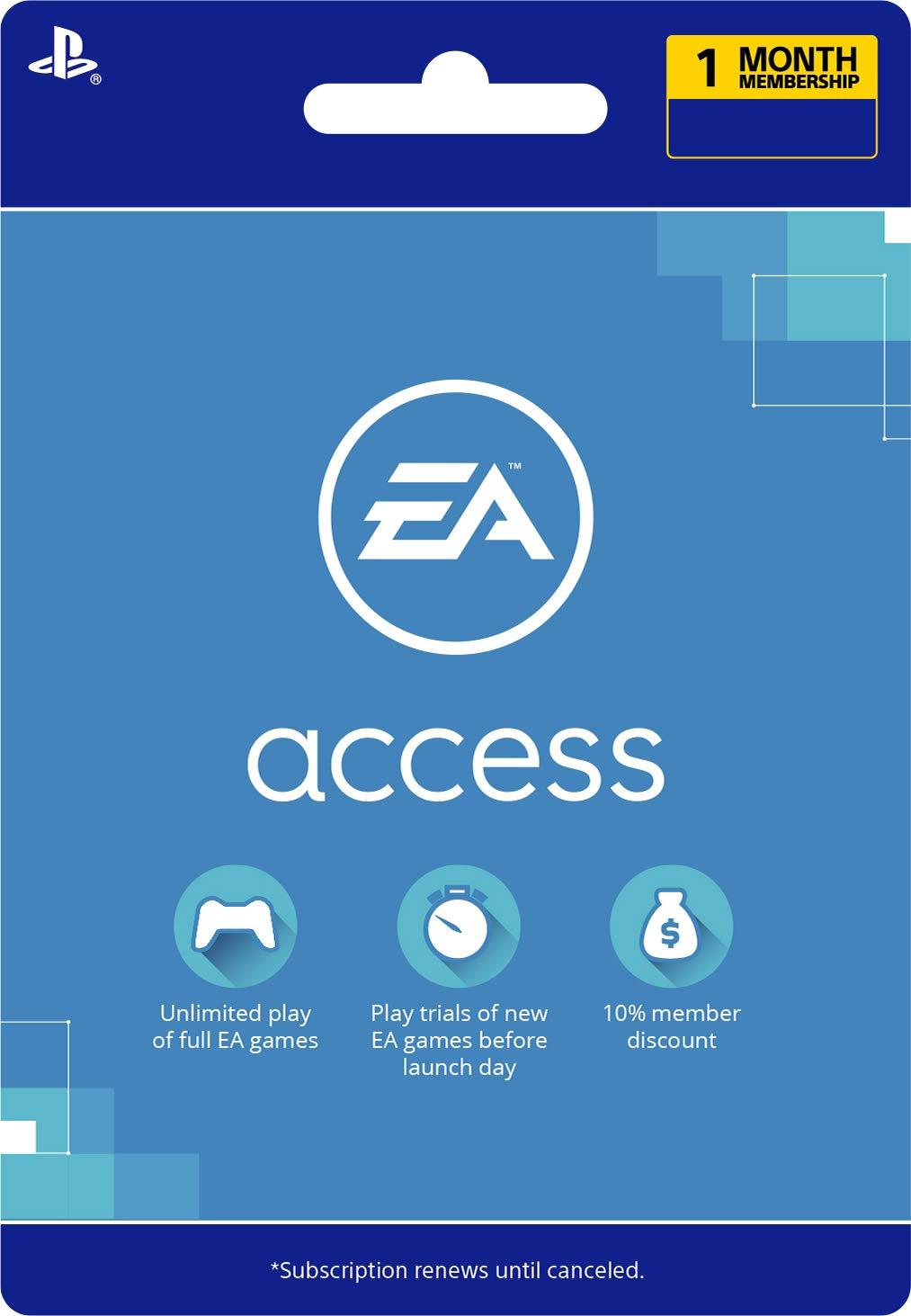 EA Access 1 Month - [PS4 Digital Code]