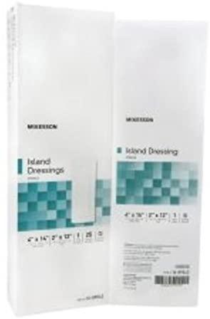 Mckesson Adhesive Island Dressing Mckesson Polypropylene/Rayon 4 X 14 Rectangle White (#16-89042, Sold Per Box) by MCK