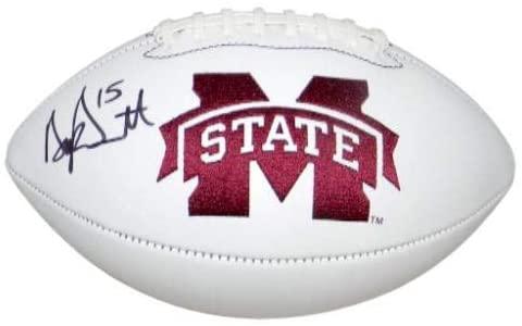 Dak Prescott Signed Autographed Mississippi State Bulldogs Logo Football - JSA Certified - Autographed College Footballs