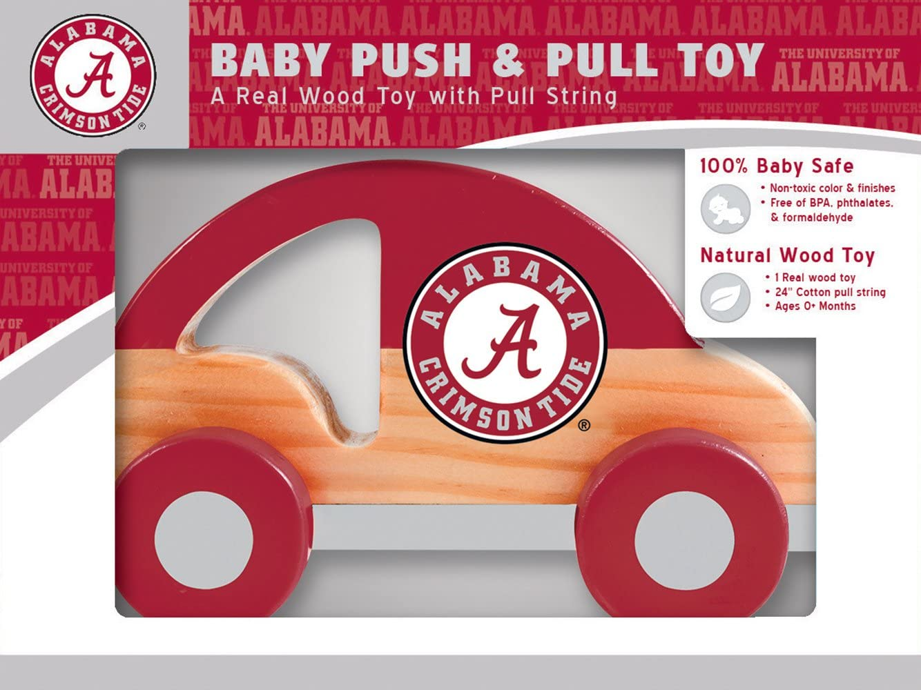 MasterPieces NCAA Alabama Crimson Tide Push & Pull Toy
