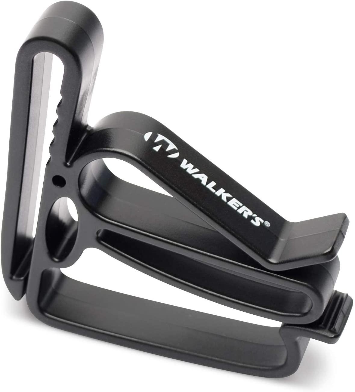 Walkers Game Ear Walkers Belt Clip Holder for Ear Muffs, Glasses, Rope, Ect, Black, One Size (GWP-BELTLOOP)