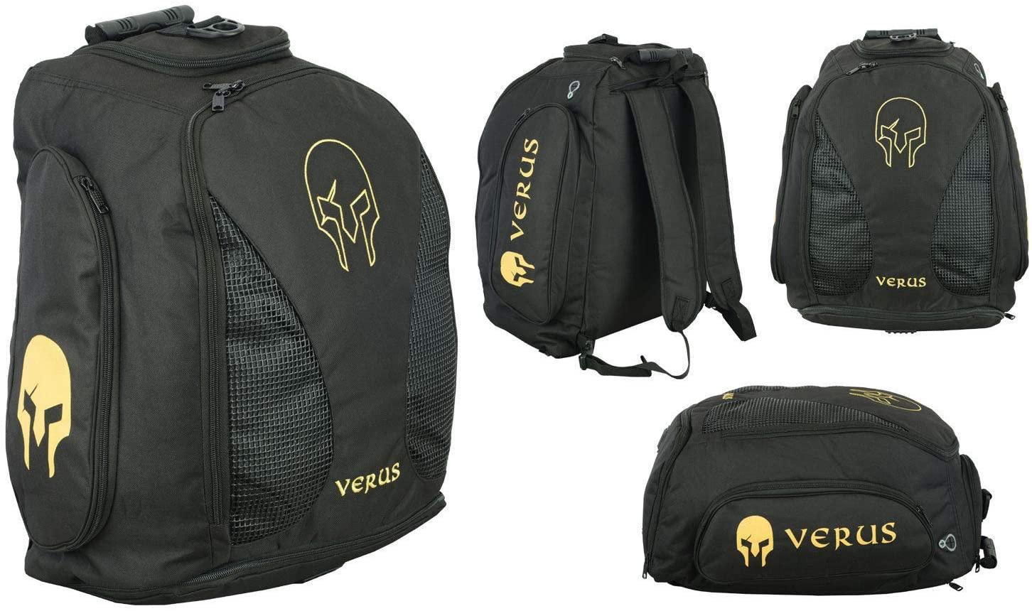 Verus Adjustable Double Shoulder Sports Carry Gym Backpack (Gold/Black)