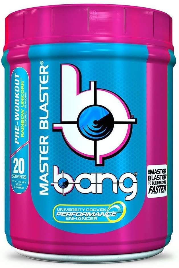 VPX Bang Pre-Workout Master Blaster Rainbow Unicorn 20 Servings