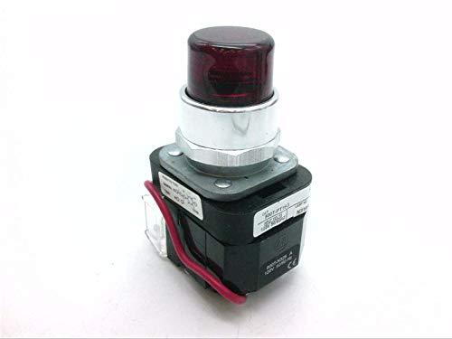 ALLEN BRADLEY 800T-PTH16R Transformer, Push-to-Test, Push Button, 1 NO-1 NC, RED Lens, Standard Block Type, Pilot Light, 30 MM, 800T Series, 50/60 HZ, 120 VAC