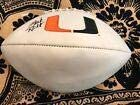 MARK RICHT MIAMI HURRICANES autograph SIGNED logo football - JSA Certified - Autographed College Footballs
