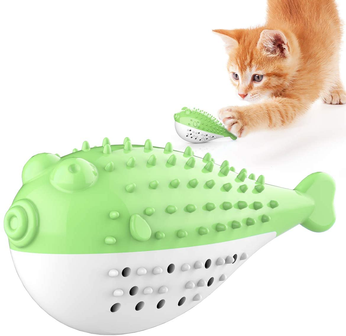 USWT Cat Toothbrush Chew Treat Toy for Kitten Teeth Cleaning Dental Care,Interactive Catnip Toys