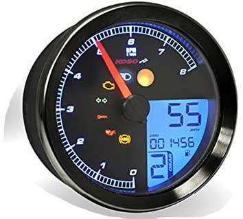 Motorize KOSO Tachometer/Speedometer XV950 / Bolt / SCR950 with Black Ring